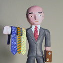 Gerald Anderson Tie Salesman at the Outsider Folk Art Gallery