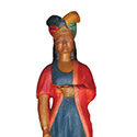 Minnie Indian by Anonymous | ANO161 | Carved Wood, Original Paint | 48 x 18 x 18 in. (121.9 x 45.7 x 45.7 cm) at the Outsider Folk Art Gallery