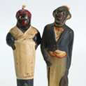 Butler and Cook Candlestick pair at the Outsider Folk Art Gallery