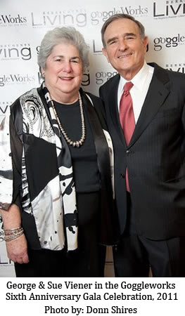 George Viener and Sue Viener celebrating at the Goggleworks Sixth Anniversary Gala, 2011 - photo credit Donn Shires