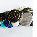 Jane Runyeon Button Bracelets at the Outsider Folk Art Gallery